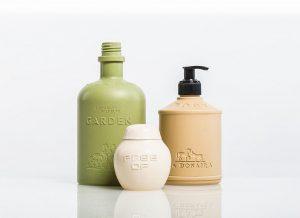 Kosmetikbehälter aus zu 100 % auf Naturmaterialien basierendem Werkstoff. (Foto: Wittmann Battenfeld)