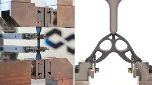Neben der Prüfung von Normprüfkörpern auf den Geräten von ZwickRoell ist, in Kombination mit der Prüfsoftware testXpert III, auch die Prüfung von Spezial-Geometrien 3D-gedruckter Bauteile abbildbar. (Foto: ZwickRoell)