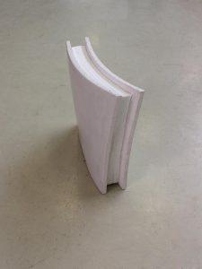 Die nicht-brennbare, flexible Dämmmatte Slentex als Kernmaterial in Carbonbeton-Elementen. (Foto: BASF)