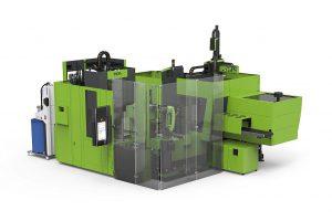 Für die Herstellung von Zwei-Komponenten-Gehäusedemoteilen kombiniert Engel eine victory 120 AMM mit einer Engel insert 60V/45 Vertikalspritzgießmaschine. (Foto: Engel)