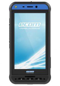 Das Ecom-Handy Smart-Ex 02 ist mit seiner beständigen TPU-Hülle für den Einsatz in der Öl- und Gasindustrie sowie in der Chemie, Pharma-, Energie- und Umweltbranche gerüstet. (Foto: Geba)