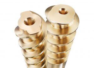 Die neuen Spiralkerne aus Messing von Hasco sind als Z960/… in eingängiger und als Z9610/… in zweigängiger Ausführung erhältlich. (Foto: Hasco)