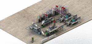 3D-Ansicht der neuen Herbold-Waschanlage für MAG/Fantastik-Plastik. (Abb.: Herbold)