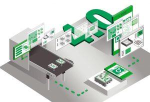Spritzgießprojekt zum Leitthema Kunststoffindustrie 4.0. (Grafik: IKV)