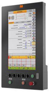 Bedienterminal der Maschinensteuerung C6000.web in aktueller, leistungsgesteigerter Version. (Abb.: Maplan)