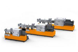 Ab sofort stehen drei Versionen der Ko-Kneter Compeo zur Verfügung, sie sind mit Verfahrenslängen von 13 bis 25 D erhältlich und eignen sich die Verarbeitung von Thermoplasten und Elastomeren. (Foto: Buss)