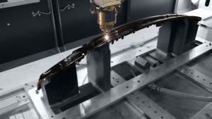 Der CO2-Slab-Laser sorgt für saubere Schnittkanten ohne Grat. (Foto: Coherent)