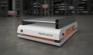 Der Transport Shuttle von Trapo kann variabel innerhalb der Palettierzone und im Lager eingesetzt werden. (Foto: Trapo)