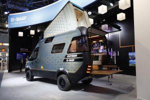 Das Konzept-Reisemobil VisionVenture war ein Publikumsrenner auf dem BASF-Stand auf der K 2019. (Foto: K-AKTUELL)