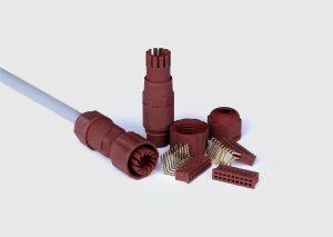 Das neue flammbeständige Photopolymer Evolution FR erreicht als erstes Harz für Stereolithographieverfahren die UL94 V0-Klassifizierung und findet damit Anwendung im industriellen 3D-Druck von z. B. Steckern und Klemmen in der Elektronikbranche. (Foto: Cubicure)