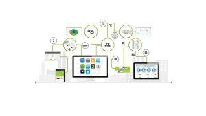 Der Marktplatz bündelt die digitalen Produkte, Dienstleistungen und domainspezifischen Plattformen unterschiedlicher Anbieter und verbindet die einzelnen Anwendungen miteinander. (Abb.: Engel)
