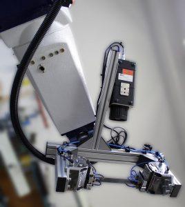 Die Widerstandserwärmung ist in das Roboterhandling integriert und wird online durch eine IR-Kamera überwacht. (Foto: IKT)