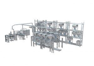 Das Add-A-Lot Multi-Ingredient-Handling System ist ein flexibles, modulares Containersystem für eine vollautomatische Rezepturzusammenstellung innerhalb einer Compoundieranlage. (Abb.: Coperion)