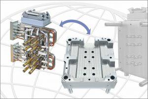 Das Komplettsystem mit seinen angebauten Zuleitungen und Anschlüssen kann für Wartung und Service einfach aus der Heißen Seite entnommen werden. (Foto: Incoe)