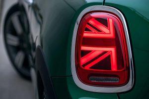 Mini 60 Years Edition mit Union-Jack-Heckleuchten. (Foto: BMW)