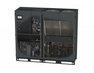 Zwei getrennte Kältekreise im Kombinationsgerät beta.c zur Feuchtmittel-Aufbereitung und Farbwerk-Temperierung führen zu Energieeinsparungen von über 20 %. (Foto: Technotrans)