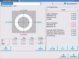 Die ermittelten Messwerte werden auf dem Hauptbildschirm übersichtlich dargestellt. (Abb.: Zumbach)