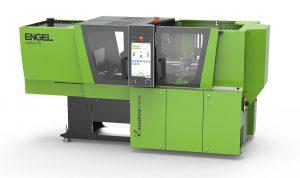 Die holmlose Spritzgießmaschine victory bietet bei der Herstellung von thermoplastischen Composite-Bauteilen in vielen Anwendungen Zeit- und Platzvorteile. (Foto: Engel)