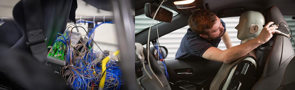 Die Messtechnik bei Vibracoustic zeichnet mehr als 150 Datenkanäle gleichzeitig auf und verarbeitet diese zusammen mit internen Fahrzeugdaten. (Foto: Vibracoustic)