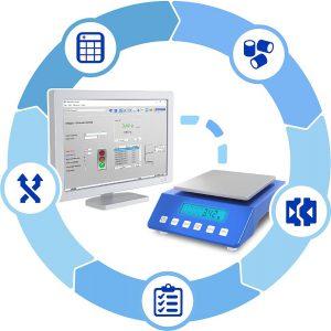 Xscale fasst alle Aufgaben, die in der Spritzgießfertigung in Zusammenhang mit einer Waage stehen, in einer Applikation zusammen. (Abb.: Plexpert)