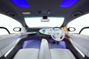 Im Konzept-Fahrzeug LQ kommt der Polyurethan-Kenaf-Verbundwerkstoff in Türverkleidungen zum Einsatz. (Foto: Covestro)
