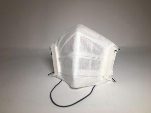3D-gedruckte Maske mit austauschbaren Einweg-Filtrationsmedium. (Foto: Essentium)