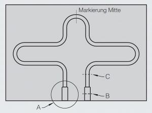 Der flexible Temperierkanal bietet die Möglichkeit, ohne aufwändige Tieflochbohrungen komplex strukturierte Kanal-Layouts mit kleinen Biegeradien von nur 10 mm zu gestalten. (Abb.: Hotset)