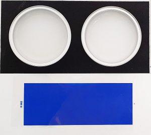 Testergebnis: Doppelt mit Siegwerk-Farbe bedruckte LDPE-Folie, die mit APKs Newcycling-Technologie entfärbt wurde. (Foto: APK AG)