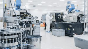 Die DMSterile-Technik unterstützt eine sterile Spritzgießverarbeitung. (Foto: Clean Blue Air)