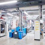 Die neue Produktionshalle von Aurora ist mit hoch modernen Compoundierungsanlagen des Typs ZSK 45 von Coperion ausgestattet. (Foto: Coperion)