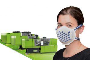 Die gezielt auf das neue Maskenwerkzeug zugeschnittenen Spritzgießmaschinen sind besonders schnell lieferbar. (Foto: Engel)