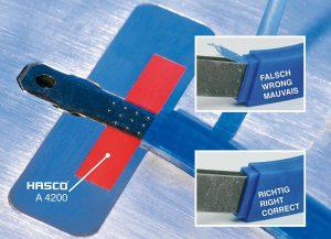 Das Kunststoffdichtelement ermöglicht grat- und beschädigungsfreies Umspritzen von Metall-Einlegeteilen. (Foto: Hasco)