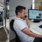 Mit Unterstützung des Lindner-Servicecenters via Videoanalyse und Online-Support konnte der Schredder Micromat 2500 vor Ort bei Hündgen installiert werden. (Fotos: Lindner)