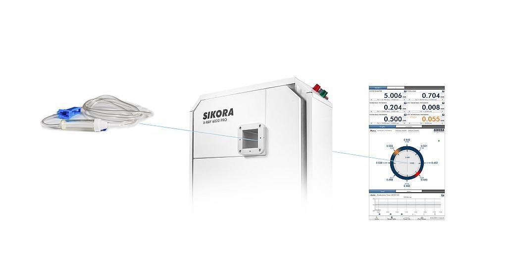 Das X-Ray 6020 Pro wurde speziell zur Messung von Medizinschläuchen konzipiert. (Fotos: Sikora)