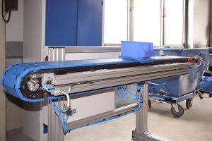 Flexi-Förderer (Testgerät) von ErgoTek aus Kunststoffteilen von Happ. (Foto: Wittmann Battenfeld)