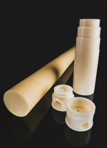 Das PPA Ultramid Advanced N5H UN wird von Gehr zu Vollstäben mit einem Durchmesser von 50 mm extrudiert. (Foto: BASF)