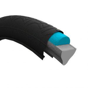 Der luftlose Reifen ist mit einem expandierten TPU von Covestro gefüllt. (Abb.: Air Fom)