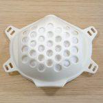 Die Mund-Nasen Atemmaske mit eingelegtem Filtermaterial. (Foto: FDU Hotrunner)