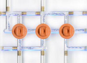 Mit dem CoolCross für Temperierkreisläufe im Spritzgießwerkzeug lässt sich der Aufwand sowohl im Bereich des Formaufbaus als auch bei den Zubehörkomponenten reduzieren. (Foto: Hasco)
