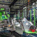 Gesamtansicht der neuen, roboterbasierten Wickelanlage im FVK-Technikum des IKV. (Foto: IKV/Fröls)