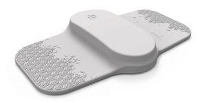 Das hautverträgliche Elektronikgehäuse mit Soft-Touch-Oberfläche wird aus einem nach Kundenwunsch eingefärbten, medizinkonformen TPE gefertigt. (Foto: Theranica)