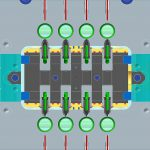 Modell des Werkzeugs mit 16 Kavitäten und zwei TFS-Linear Düsen mit 4+4 Einspritzpunkten. (Abb.: Thermoplay)