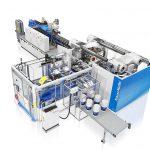 Die GX-Baureihe ist zur Herstellung großer Eimer mit IML-Dekorierung geeignet. (Foto: KraussMaffei)