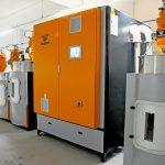 Der neue EKO-N Granulattrockner mit verschiedenen Trocknungsbehältern. (Foto: Koch-Technik)
