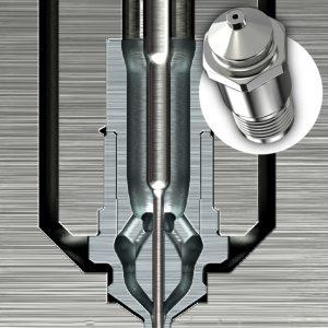 Accu-Valve GX bietet durch einen austauschbaren Anschnitteinsatz eine vereinfachte Wartung. (Abb.: Mold-Masters)
