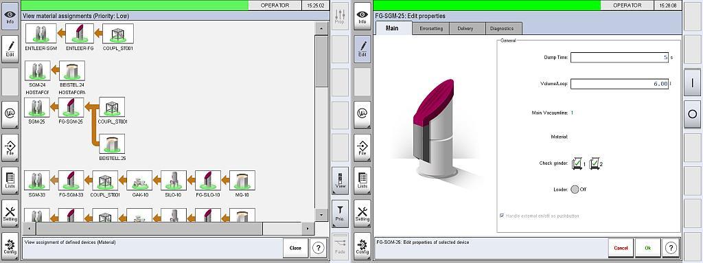 Die Verwaltung von Fördergeräten ist am übersichtlichen M8-Bildschirm möglich. (Abb.: Wittmann)