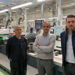 v.l.: Luigi Cesselli, Federico Zucchett (Etigraph Italia) und Roberto Maiocchi (BST eltromat Italia). (Foto: BST eltromat)