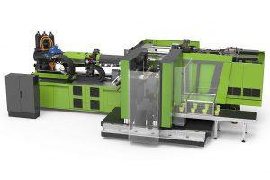 Die neue e-speed 280 wird während der live e-xperience 1-Liter-Rundbehälter in Dünnwandtechnik produzieren. (Foto: Engel)