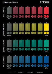 Durch individuelle Anpassung von Färbemitteln lassen sich PCR-Materialien in vielen attraktiven Farbtönen einfärben. (Fotos: Finke)