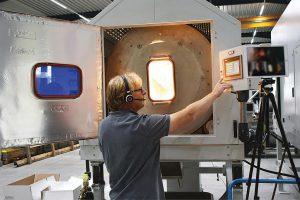 Solche Technikumsversuche bei Kreyenborg können jetzt online beobachtet werden. (Foto: Kreyenborg)